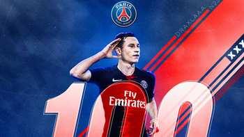 My 100th game for Paris Saint-Germain